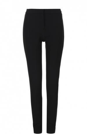 Облегающие брюки с контрастными лампасами Tom Ford. Цвет: черный