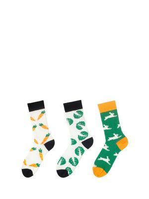 Носки Sammy Icon. Цвет: зеленый, белый, оранжевый