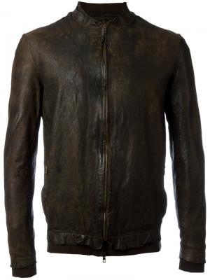 Mandarin neck zipped jacket Salvatore Santoro. Цвет: коричневый