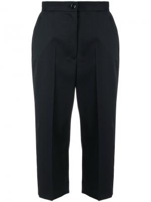 Укороченные брюки с высокой талией Mm6 Maison Margiela. Цвет: чёрный