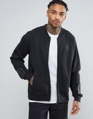 Adidas Originals Черная свободная спортивная куртка Paris Pack BK0520. Цвет: черный
