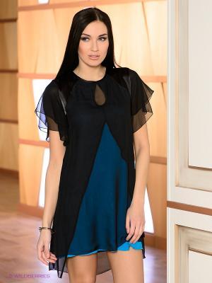 Платье DOCTOR E. Цвет: бирюзовый, черный