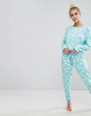 Chelsea Peers Пижамный комплект с принтом мороженого. Цвет: мульти