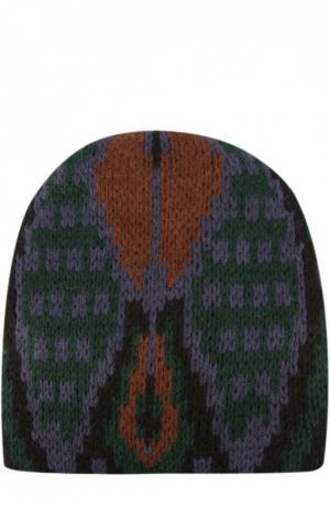 Вязаная шапка с узором Tak.Ori. Цвет: черный