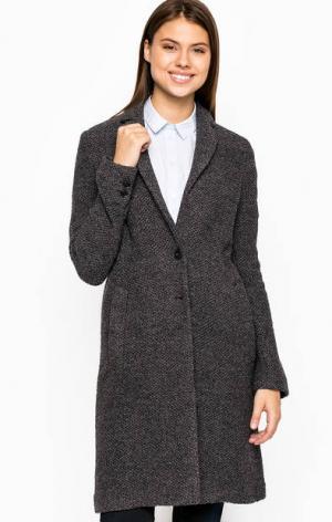 Серое пальто из шерсти Marc O'Polo. Цвет: серый