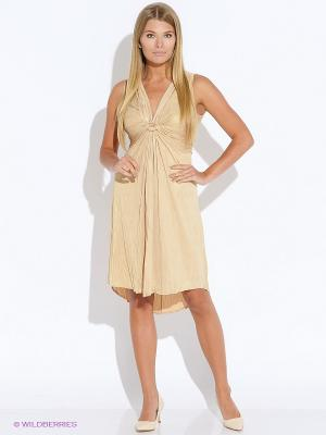 Платье Oky Coky. Цвет: золотистый