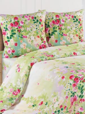 Постельное белье Манон ECOTEX. Цвет: салатовый, светло-зеленый
