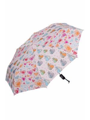Зонт складной NUAGES. Цвет: кремовый