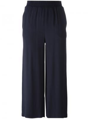 Укороченные прямые брюки IM Isola Marras I'M. Цвет: синий