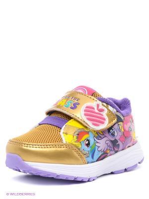 Ботинки Kakadu. Цвет: золотистый, фиолетовый