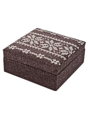 Декоративная коробка для хранения Bizzotto. Цвет: коричневый
