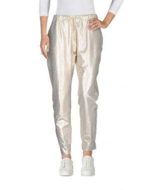 Повседневные брюки JIJIL. Цвет: платиновый