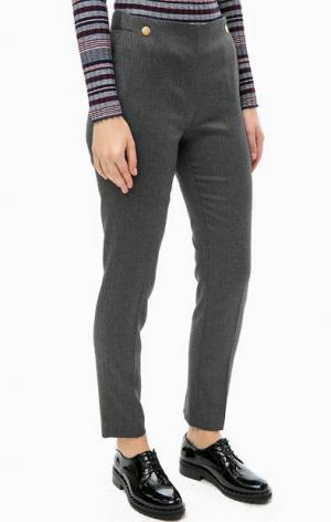 Зауженные повседневные брюки синего цвета TRUCCO. Цвет: синий