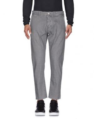 Джинсовые брюки OFFICINA 36. Цвет: серый