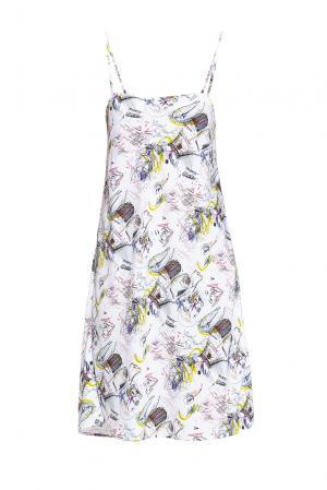 Платье на бретелях с абстрактным принтом 190527 Cyrille Gassiline. Цвет: разноцветный