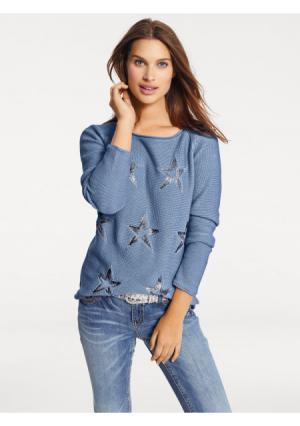 Пуловер B.C. BEST CONNECTIONS by Heine. Цвет: джинсовый синий, дымчато-розовый, серый, хаки