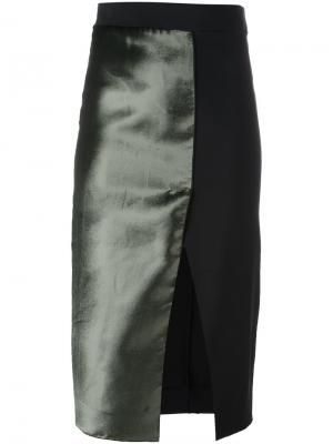 Юбка с панельным дизайном Ssheena. Цвет: чёрный