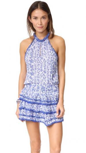 Мини-платье Eva Poupette St Barth. Цвет: синие пуговицы