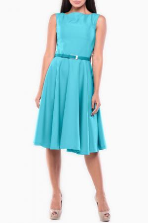 Полуприлегающее платье с ремнем REBECCA TATTI. Цвет: светло-ментоловый