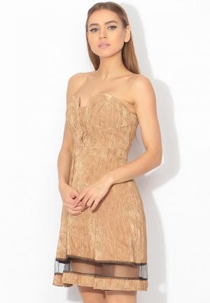 Платье Tutto Bene. Цвет: золотой