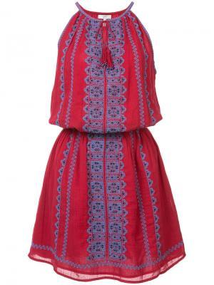 Приталенное короткое платье Joie. Цвет: красный