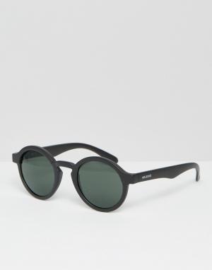 Mr Boho Круглые солнцезащитные очки в черной матовой оправе с классическими ст. Цвет: черный