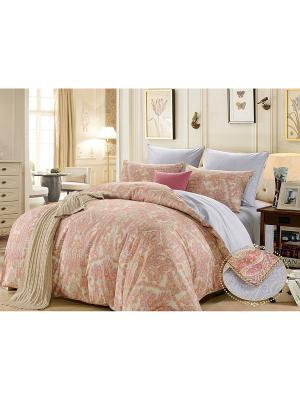 Комплект постельного белья, Орлеан, Семейный KAZANOV.A.. Цвет: бежевый, розовый