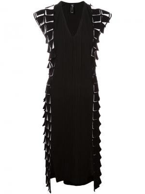 Платье длины миди с объемным декором Zero + Maria Cornejo. Цвет: чёрный