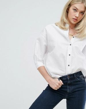 MiH Jeans Рубашка в полоску Poets. Цвет: белый