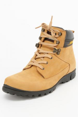 Ботинки Etor. Цвет: светло-желтый, нубук