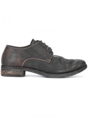 Классические ботинки Дерби A Diciannoveventitre. Цвет: чёрный