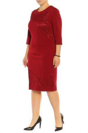 Платье Жанна BlagoF. Цвет: бордовый