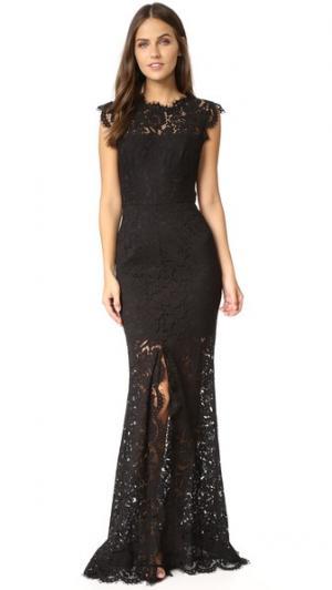 Макси-платье Estelle с вырезом Rachel Zoe. Цвет: голубой