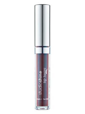 Жидкая матовая помада для губ с блестками Studio Shine, оттенок 14416 переливающийся дуохром LASplash. Цвет: темно-коричневый, голубой