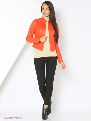 Куртка кожаная (двухсторонняя) SUSSEX. Цвет: красный