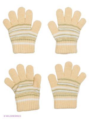 Перчатки, 2 пары FOMAS. Цвет: бежевый, белый, оливковый, голубой