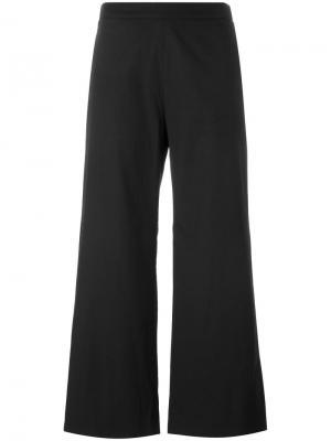 Широкие укороченные брюки Fabiana Filippi. Цвет: чёрный
