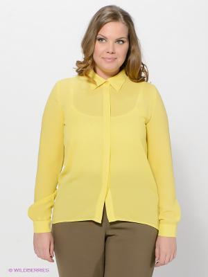 Блузка LE MONIQUE. Цвет: желтый