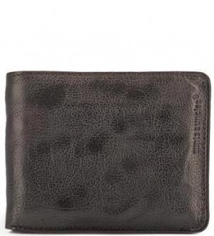 Кожаное портмоне с двумя отделами для купюр aunts & uncles. Цвет: черный