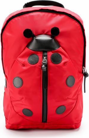 Текстильный рюкзак с кожаной отделкой Dolce & Gabbana. Цвет: красный