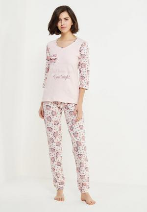 Пижама Cleo. Цвет: розовый