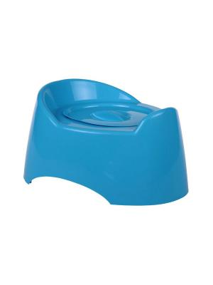 Горшок туалетный детский Малышок с крыш.(голубой) Альтернатива. Цвет: голубой