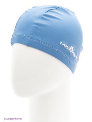Шапочка для плавания Mad Wave. Цвет: голубой