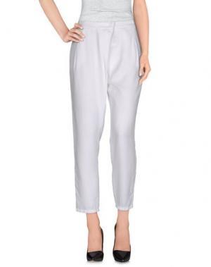 Повседневные брюки LA FILERIA. Цвет: белый