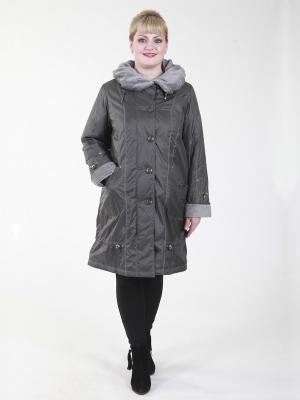 Пальто Грация VIKO. Цвет: серый