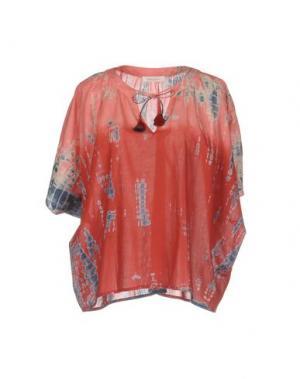 Блузка BELLA JONES. Цвет: кирпично-красный
