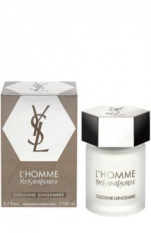 Туалетная вода L`Homme Cologne YSL. Цвет: бесцветный