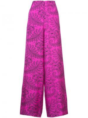 Брюки-палаццо Ullman Dvf Diane Von Furstenberg. Цвет: розовый и фиолетовый