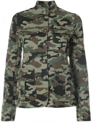 Камуфляжная куртка Nili Lotan. Цвет: зелёный