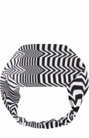 Вязаная повязка из вискозы Missoni. Цвет: черно-белый